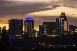 Anolis lights Sandton City Office Tower