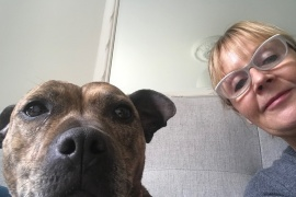 Jo Harding and her dog Millie