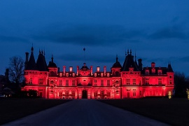 Waddesdon Manor #LightItInRed